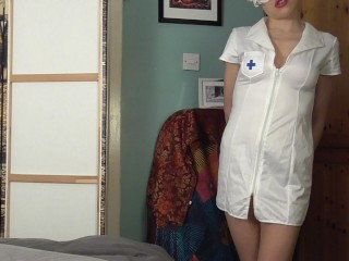 Hot FemDom Nurse Latex Gloves Extreme Edging with explosive Cumshot
