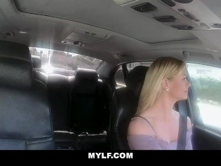 MYLF - Busty Milf And Lesbian Teen Scissor Fuck In The Car