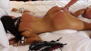 sarah lace pussyfucked ass fucked bondage vibrators whipped dp-toys spanked