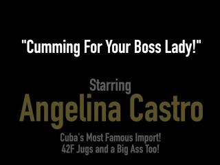 Plump Hairy Pussy Angelina Castro Stuffs Her Curvy Cuban Cunt In The Office