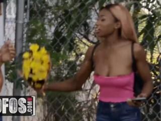 MOFOS - Ebony Teen Kinsley Karter sucks white cock POV