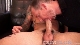 hung straight handsome ethan feeds huge load to cum eating gay cocksucker