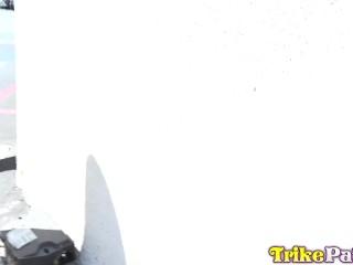 TRIKEPATROL Tiny Asian Porn Star Jasmine Grey Rides Big Cock