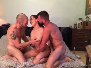 Wild and Sexy Bisexual MMF Threesome with Kasey Warner & Johnny Hill