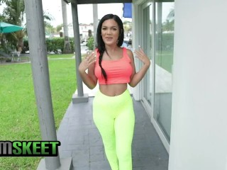 TeamSkeet - Athletic Busty Latina Sucks And Rides A Big Ass Dick