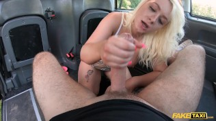 Fake Taxi British blonde Candy Banks is so bendy
