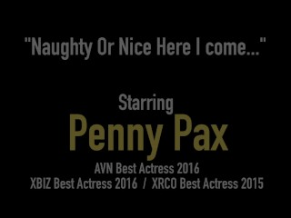 Horny Santa's Slut Penny Pax Gets Her Butt Plug & Dildo For XMas!