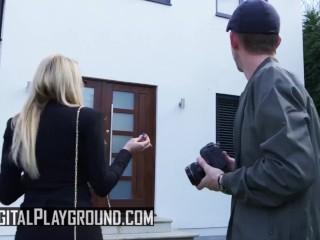 Digital Playground - Alt slut Alessa Savage and milf Amber Jayne share cock