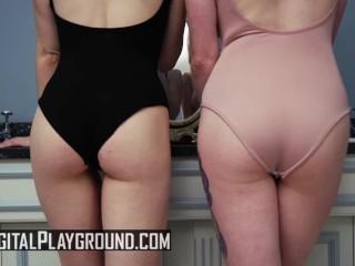 Digital Playground - Big tit Cat girls share one big fat cock