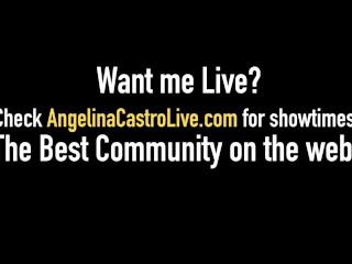 Thick Latina Angelina Castro Strap-On Dicks Big Black Harmonie Marquis!