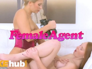 Fake Agent Big tits jennifer keelings gets a big facial