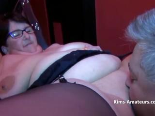 Huge boobed Granny bound