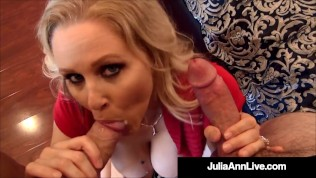 Hot Mature Mommy Julia Ann Gets 2 Pussy Fuckers With 2 Hot Loads Of Cum!
