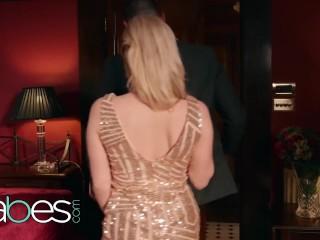 BABES - big tit blonde Georgie Lyall rides dilf dick