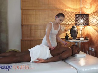 Massage Rooms young czech lady bug interracial sex with big black cock