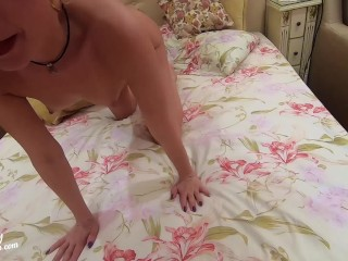 Horny Mom Facefuck Big Dick and Hard Anal - Cum in Mouth