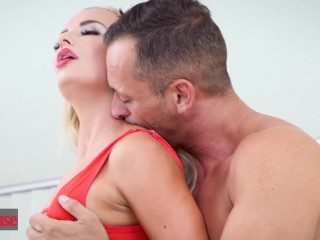 Doghouse - Skinny blonde Euro babe loves anal and creampies