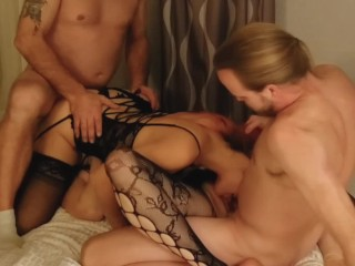 Amateur swinger foursome w/POV blowjob