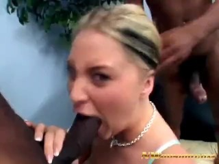 Young Blonde Bitch Bailey Fucking with 2 BBC