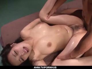 Kyouko Maki bends anus for a mega Mischievous japanese pup