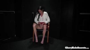 busty mom eats strangers cocks in gloryhole