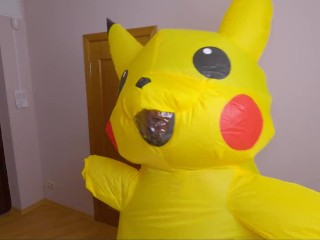 Pikachu teen used her riding skills to get impregnated! Super effective!