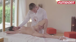 RelaXXXed – Horny MILF Oiled And Rough SEX with Masseur – LETSDOEIT