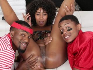 FILTHY FAMILY – Black Stepmom Bangs Stepson LilD & His Coach Rome Major
