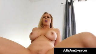Horny Big Titty Mommy Julia Ann Rides & Milks Her Step Son's Hard Cock!