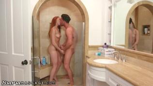 Redhead Lacy Lennon Almost Caught Cheating- NuruMassage