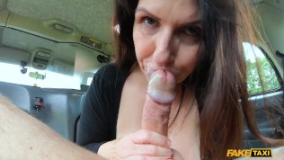 Fake Taxi huge big boobs real mom Josephine James drilled