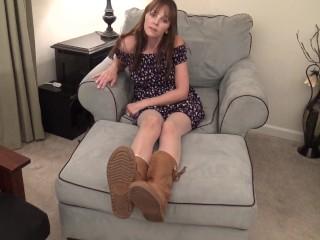 Smelly My Stinky Feet in Pantyhose! POV Foot Smelling Kara's Feet