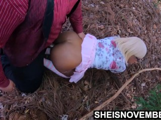 Ebony Fauxcest Step Dad Fucking Daughter In Woods Public Doggystyle Fuck HD