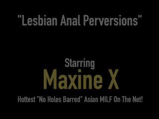 Anal Loving Asian Mommy Maxine X Gets Butt Fucked By Horny Janessa Jordan!