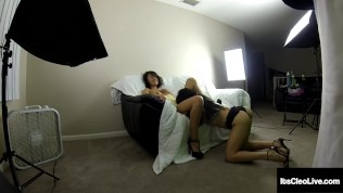 Freckled Wild Webcammer Its Cleo Tongue Fucks Her Horny Wet Girlfriend!