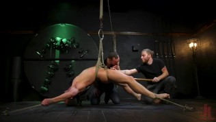 kinky viktor edged until he shoots fat ropes of hot cum