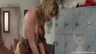 Interracial BBC Sex For Blonde Hussy