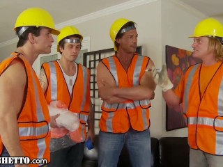 Horny Housewife Gangbanged by Construction Workers -WhiteGhetto