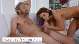 naughty america - adriana chechik does anal with hot dad