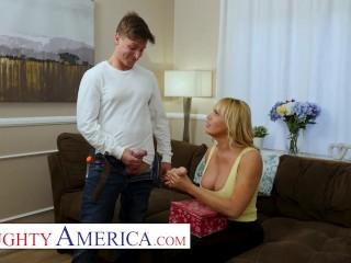 Naughty America StepMom Dana Dearmond Plays With Her Sons Friend