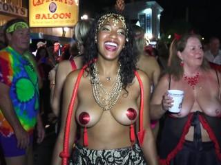 hot sexy naked street flashers key west fest p1