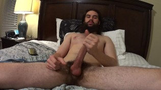 Hung Straight Hippy Shows Off Feet, Ass, Moans to HUGE Cumshot On Cam