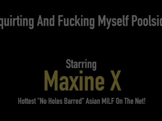 Hey - It's Fucky Ducky Time With Busty Squirting Asian Sex Bomb Maxine X!