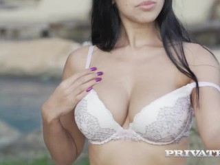 PRIVATE com - Big Titty Babe Kira Queen Gets Cummed On By 2 Big Black Cocks