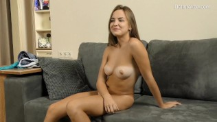 Hot babe Kincs first time in front of camera