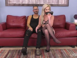 Blonde Beauty Pounded Hard After Oral Sex and Toy Masturbation