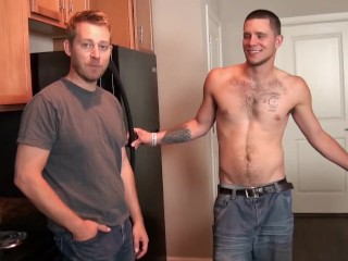 3 guys fuck - messy big cum loads in tight ass fucking