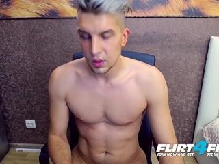 Flirt4Free - Benjamin Great - Athletic College Stud Eats His Own Cum