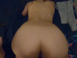 PAINFULL ANAL – Cowgirl & intense cumshot doggystyle on her ass hole POV