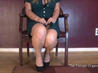 Thefemaleorgasm/big orgasm pulsing natural tits